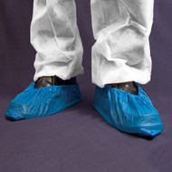 Overshoes Blue with Slip Resistance & Elastic Edges