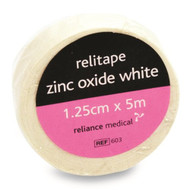 Zinc Oxide tape 1.25cm x 5cm White roll
