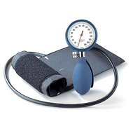 BoSo Clinicus Aneroid Sphygmomanometer with Cuff, Blue Colour Dial Rim and Bulb