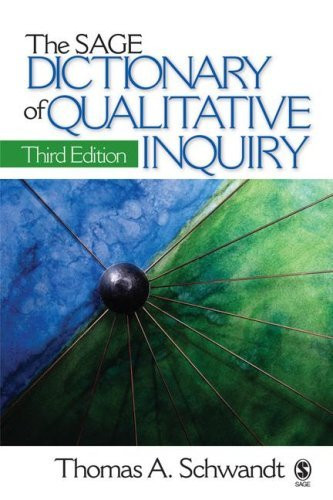 Sage Dictionary Of Qualitative Inquiry