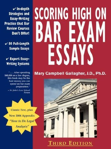 Scoring High On Bar Exam Essays