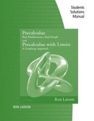 Student Study Solutions Manual For Larson/Hostetler/Edwards' Precalculus