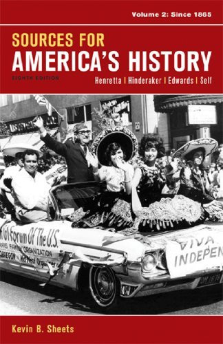 Sources For America's History Volume 2
