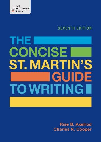 Concise St Martin's Guide To Writing
