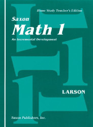 Saxon Math 1 An Incremental Development