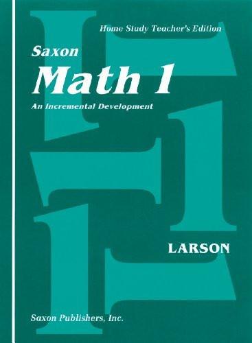 Saxon Math 1 An Incremental Development