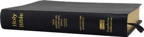 Nasb Side-Column Reference Wide Margin Bible; Black Genuine Leather