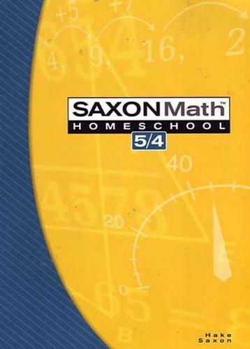 Saxon Math 5/4 Home School