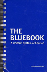 The Bluebook - A Uniform System of Citation   by Harvard & Columbia Law Review