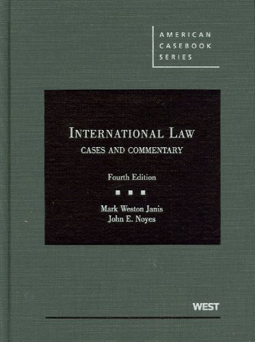 International Law Cases And Commentary