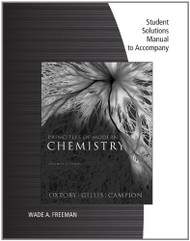 Student Solutions Manual For Oxtoby/Gillis' Principles Of Modern Chemistry