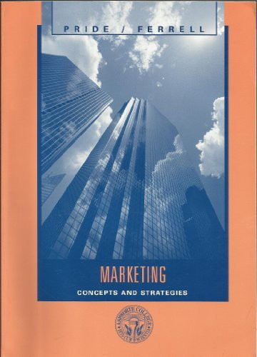 marketing concepts and strategies Marketing: concepts and strategies by o c ferrell, 9780618532032, available at book depository with free delivery worldwide.