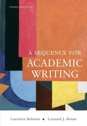 A Sequence for Academic Writing, 6th Edition
