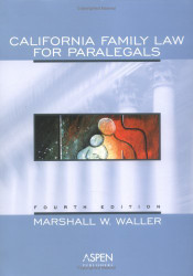 California Family Law For Paralegals
