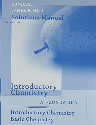 Chemistry 8e Zumdahl Solution manual