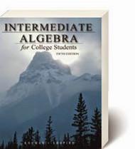 Intermediate Algebra For College Students