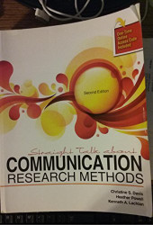 Straight Talk About Communication Research Methods by CHRISTINE DAVIS