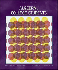Algebra For College Students