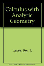 Calculus With Analytic Geometry Alternate