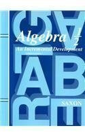 Algebra 1/2 An Incremental Development