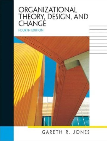 Organizational Theory Design And Change