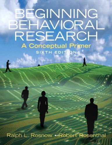 Beginning Behavioral Research