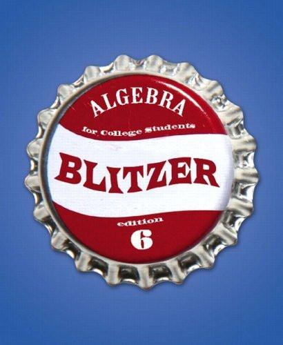 Algebra For College Students