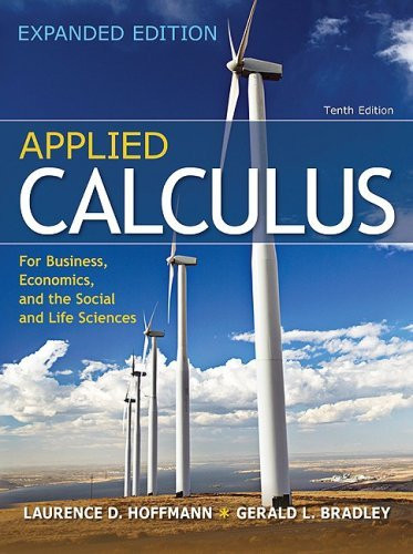 applied calculus for business economics and the social and life isbn rh americanbookwarehouse com Applied Calculus for the Managerial Life Applied Calculus White Book