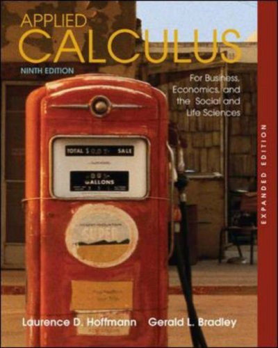Applied Calculus For Business Economics And The Social And Life Sciences