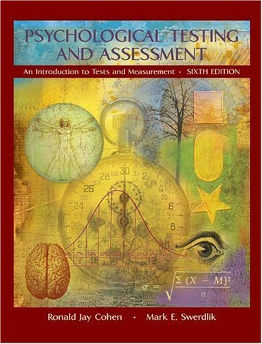cohen psychological testing and assessment pdf