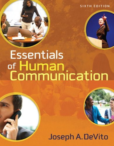 Essentials Of Human Communication