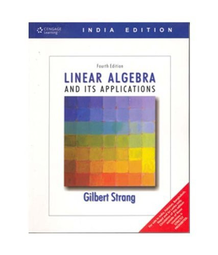 strang g linear algebra and its applications