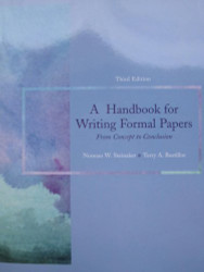 Handbook For Writing Formal Papers