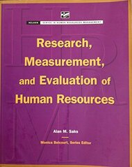 Research Measurement And Evaluation Of Human Resources