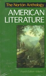 Norton Anthology Of American Literature Volume 1