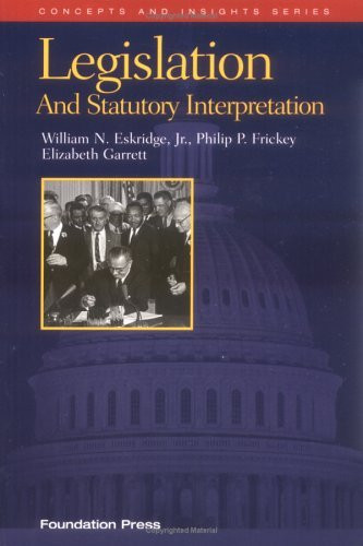 Legislation And Statutory Interpretation