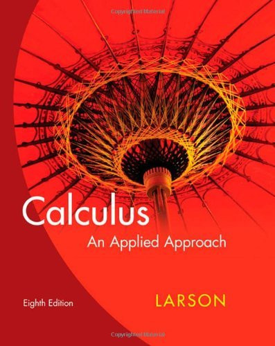 Calculus An Applied Approach