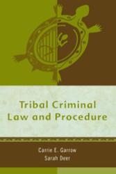 Tribal Criminal Law And Procedure