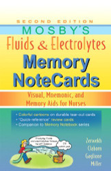 Mosby's Fluids And Electrolytes Memory Notecards