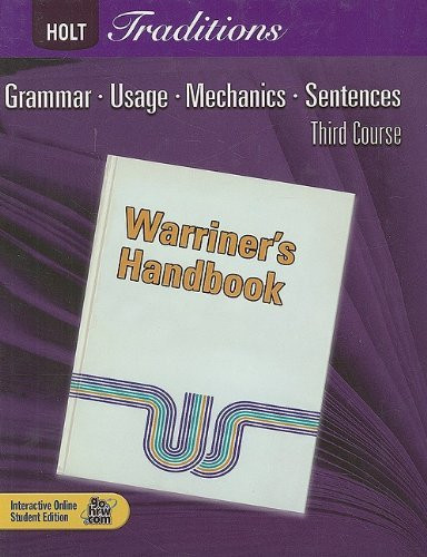 Traditions Warriner's Handbook Student Edition Grade 9 Third Course