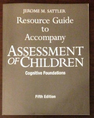 Resource Guide To Accompany Assessment Of Children