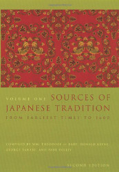Sources Of Japanese Tradition Volume 1