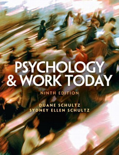 Psychology And Work Today