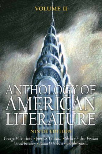 Anthology Of American Literature Volume 2