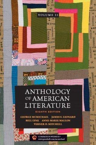 Anthology Of American Literature Volume 2