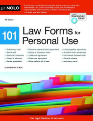 101 Law Forms For Personal Use