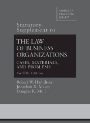 Law Of Business Organizations