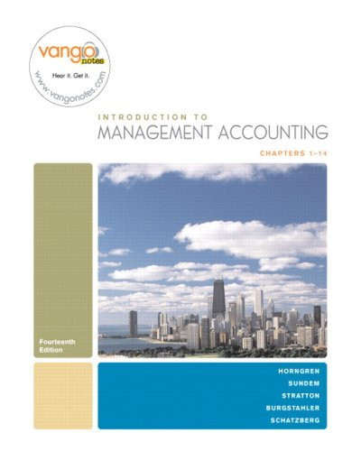 Introduction To Management Accounting Chapters 1-14