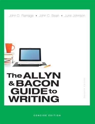 Allyn And Bacon Guide To Writing Concise Edition