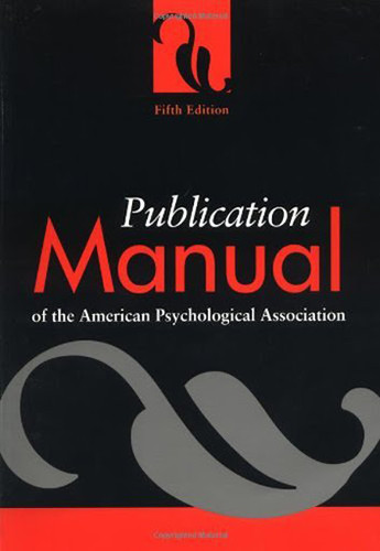 Publication Manual Of The American Psychological Association